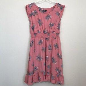 Torrid Floral Blouson Cap Sleeve Dress Sz 1X